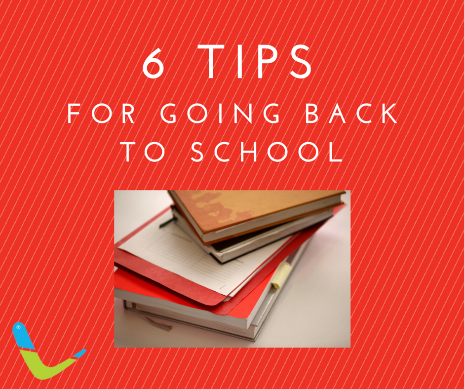 6 tips for going back to school