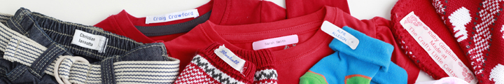 Shoe and Clothing Name Labels