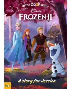 Flat view of Frozen II personalised book