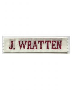 23 mm Wide Identity Tag Red and White, Labels4kids