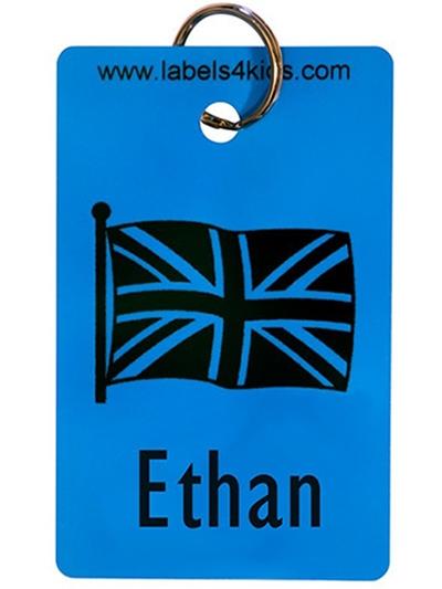 Personalised Kids//Childrens Name School Bag Tag Keyrings Butterfly Design