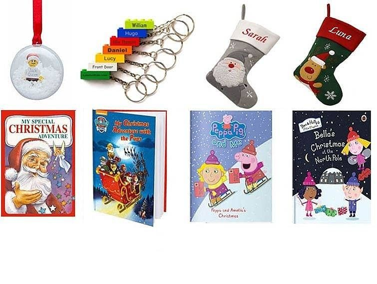 Personalised gifts, books, LEGO, Stocking
